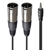 AxcessAbles TRS18-DXLR403M  Audio Cable, 3.5 mm Stereo TRS to Dual XLR Male  Cable (10ft)