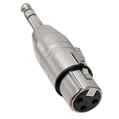 "AxcessAbles 3PIN XLR female to ¼"" TRS Stereo Male Cable Gender Changing Connector Coupler Adapter"