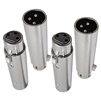 AxcessAbles XLR3F-XLR3M-4PK 3 Pin XLR Female to 3 Pin XLR Male Gender Changing Adapter (4 Pack)