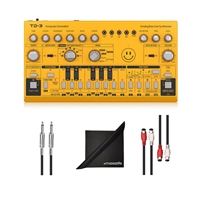 Behringer TD3AM All-Analog Bass Synthesizer w/ AxcessAbles Audio Cables and eStudioStar Polishing Cloth