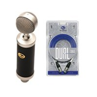 Blue Baby Bottle Condenser Microphone, Shockmount, Pop Filter and Dual Cable Package
