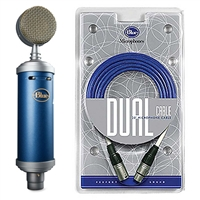 Blue Bluebird Microphone Large Diaphragm Cardioid Condenser and Blueberry Cable Package