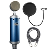 Blue Microphones Bluebird SL Studio Condenser Microphone w/ AxcessAbles Microphone Pop Filter and Audio Cable