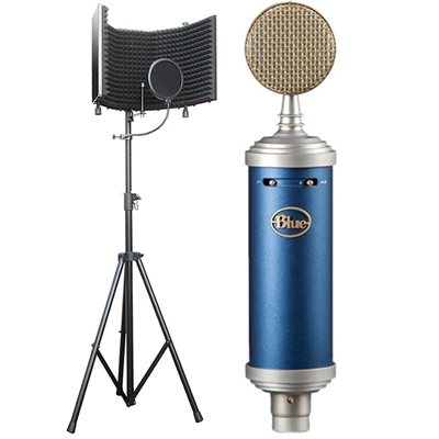Blue Microphones Bluebird SL Large-diaphragm Studio Condenser Microphone w/ AxcessAbles Microphone Isolation Shield and Stand