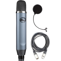 Blue Microphones Ember XLR Studio Condenser Microphone w/ AxcessAbles XLR Audio Cable and Pop Filter