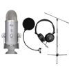Blue Microphones Yeti Studio USB Microphone with Headphone and Pop Filter