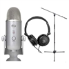 Blue Microphones Yeti Studio USB Microphone with Samson HP10 Headphone and Microphone Stand