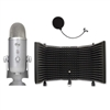 Blue Microphones Yeti Studio USB Microphone with Auralex MudGuard Microphone Isolation Shield