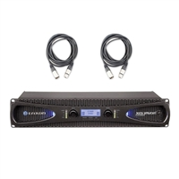 Crown Audio XLS 2502 Stereo Power Amplifier (775W at 4 Ohm) with XLR Cables