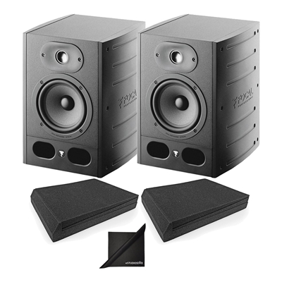 "Pair Focal Alpha 50 Active 2-Way 8"""" Near Field Professional Monitoring Speakers w/Mopads"