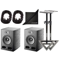 Focal Alpha 50 Pair Active 2-Way 8'' Near Field Professional Monitoring Speakers with Stands & Cables