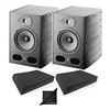 Focal Alpha 65 Pair Active 2-Way 8'' Near Field Professional Monitoring Speakers w/ AxcessAbles Isolation Foam Pads and eStudioStar Polishing Cloth