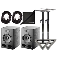 Focal Alpha 65 Pair Active 2-Way 8'' Near Field Professional Monitoring Speakers with Stands & Cables