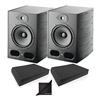 "Focal Alpha 80 Active 2-Way 8"" Near Field Professional Monitoring Speaker w/ AxcessAbles Isolation Foam Pads and eStudioStar Polishing Cloth"
