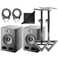 "Focal Alpha 80 Active 2-Way 8"" Near Field Monitor Speakers(2) with Stands and Cables"