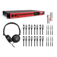 Focusrite Clarett 8Pre Thunderbolt Studio Recording Interface with Headphones 15  AxcessAbles Cables Package