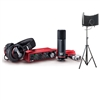 Focusrite Scarlett Studio (3rd Generation) Pack with AxcessAbles Microphone Isolation Shield and Tripod Stand Bundle