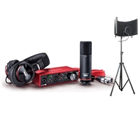 Focusrite Scarlett 2i2 USB Audio Interface Studio Pack 2G Recording Package