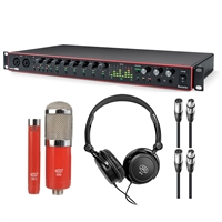 Focusrite Scarlett 18i20 Interface 3rd Gen with MXL 550/551r Microphones & Headphones Bundle