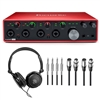 Focusrite Scarlett 18i8 Audio Recording PodCast Interface with Headphones & Cables