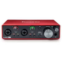 Focusrite Scarlett 2i2 2 in/2 out USB 2.0 Audio Recording Interface -2nd Generation