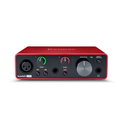 Focusrite Scarlett Solo 2-in, 2-out USB Audio Interface (3rd Gen)