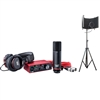 Focusrite Scarlett Solo Studio Package 3rd Generation w/ Microphone Isolation Shield With Stand
