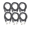 Hotwires 20' XLR-XLR20 Cables Six (6) Pack