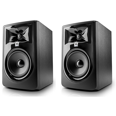 "JBL 305P MkII  5"" Two-Way Studio Monitoring Speakers (Pair) with eStudioStar Polishing Cloth"