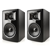 "JBL 306P MkII 6.5"" Studio Monitoring Speakers (Pair) w/ eStudioStar Polishing Cloth"