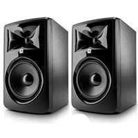 "JBL 308P MkII  8"" Studio Monitoring Speakers (Pair) w/ eStudioStar Polishing Cloth"