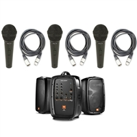 "JBL EON206P - Portable 6.5"" Two-Way System with 3 Microphone and 3 XLR Cable"