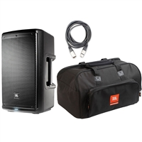 JBL EON610 - 10' Two-Way Multipurpose Self-Powered Sound Reinforcement Speaker with JBL Bags EON610-Bag 10 mm Padding/Dual Accessories/Carry Handles and AxcessAbles XLR-XLR20 Audio Cable