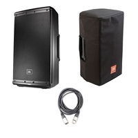 JBL EON612 - 12' Two-Way Multipurpose Self-Powered Sound Reinforcement Speaker with JBL Bags EON612-CVR 5 mm Padding/Water Resistant/ Cover and AxcessAbles XLR-XLR20 Audio Cable