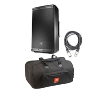 JBL EON612 - 12' Two-Way Multipurpose Self-Powered Sound Reinforcement Speaker with BL Bags EON612-Bag 10 mm Padding/Dual Accessories/Carry Handles and AxcessAbles XLR-XLR20 Audio Cable