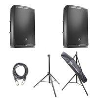 "JBL EON615 15"" Two-Way Multipurpose Self-Powered Sound Reinforcement Speaker (Pair)"