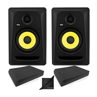 "KRK CL5G3 5"" Professional Powered Studio Monitor w/ AxcessAbles Speaker Isolation Foam Pads and eStudioStar Polishing Cloth"