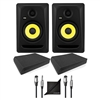 "KRK CL5G3 5"" Professional Powered Studio Monitor w/ AxcessAbles Speaker Isolation Foam Pads, Audio Cables and eStudioStar Polishing Cloth"