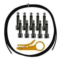 Lava Cable Tightrope Solder-Free Pedal-Board Kit Black Cable