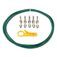 Lava Cable Tightrope Solder-Free Pedal-Board Kit Green Cable / Nickel Connectors
