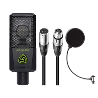 Lewitt LCT-240 Pro Condenser Microphone (Black) with 20' XLR-XLR Cable & Pop Filter Bundle