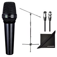 Lewitt MTP-550-DM Handheld Vocal Microphone w/ AxcessAbles Microphone Stand, Audio Cable and eStudioStar Polishing Cloth