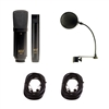 MXL 440/441 Recording Ensemble Microphone Pack w/Pop Filter and 2 XLR Cables