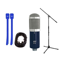MXL R144 Studio Ribbon Microphone with mic stand, cable and cable ties