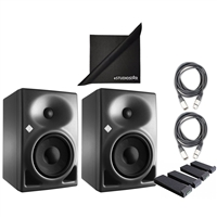 Neumann KH120A Studio Monitors with AxcessAbles Cables, Auralex MoPAD STUDIO KIT