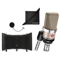 Neumann TLM-102 Large Diaphragm Studio Condenser Microphone WITH 	AxcessAbles SF-101 Recording Studio Microphone Isolation Shield and 	eStudioStar Polishing Cloth