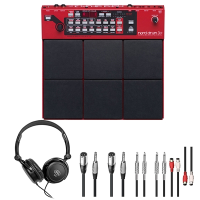 Nord DRUM 3P Synth w/ AxcessAbles Stereo Headphones and Audio Cables