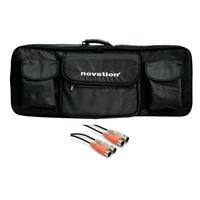 Novation 49 Soft Shoulder Bag w/ AxcessAbles Audio MIDI Cable