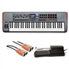 Novation Impulse 61 MIDI Controller with MID-310BK 10Ft. MIDI Cable and KSP100 Sustain Pedal, NOVIMPULSE61-BUNDLE-1, IMPULSE61