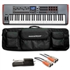 Novation Impulse 61 MIDI Controller with SoftCase, MID-310BK 10Ft. MIDI Cable and KSP100 Sustain Pedal, NOVIMPULSE61-BUNDLE-2, IMPULSE61